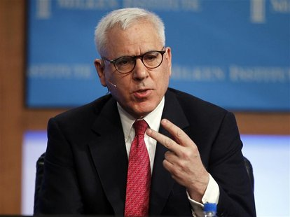 "Carlyle Group's co-founder and Managing Director David Rubenstein speaks at the panel discussion ""Global Opportunities in Private Equity"" at"
