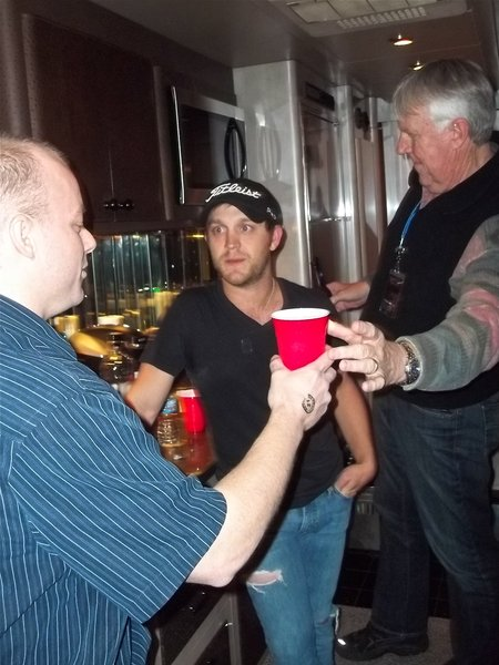 Then one of our contest winners talked his way into one of Justin's beers
