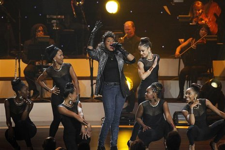 "Singer Jennifer Hudson performs a medley during the taping of ""We Will Always Love You: A Grammy Salute To Whitney Houston"" at the Nokia the"