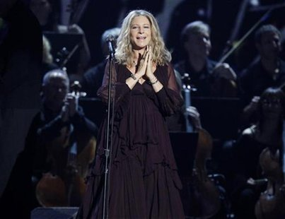 "Barbra Streisand performs ""Evergreen"" at the 53rd annual Grammy Awards in Los Angeles, California February 13, 2011. REUTERS/Lucy Nicholson"