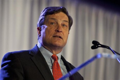 Richmond Federal Reserve Bank President Jeffrey Lacker speaks during the Charlotte Chamber's Economic Outlook Conference in Charlotte, North