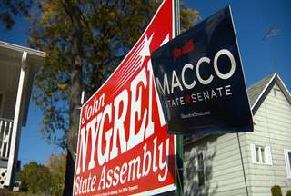 A Marinette city ordinance regarding the placement of political signs is the basis of a federal lawsuit. The suit alleges the city requires a permit and a $15 fee to be paid before political signs can be displayed. (courtesy of FOX 11).
