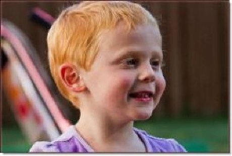 4-year-old Matthew Fleurant of Appleton, injured in a traffic crash near Custer on Highway 10.
