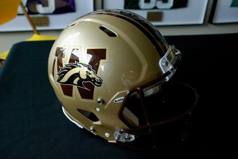 WMU Football helmet
