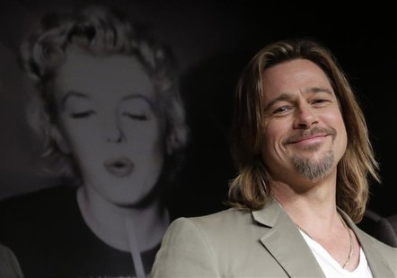 "Cast member Brad Pitt attends a news conference for the film ""Killing Them Softly"", in competition at the 65th Cannes Film Festival May 22,"