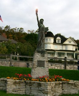 The statue on Mackinac Island.