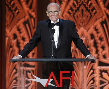 Former Senator and Democratic presidential candidate George McGovern speaks in tribute at the TV Land cable channel taping of the AFI Life A