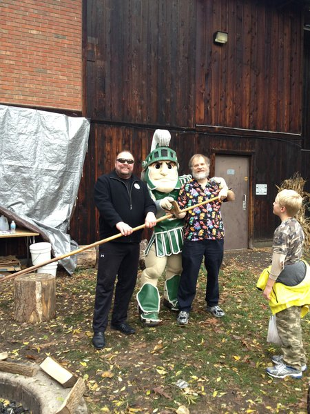 Tim w/ Sparty and Rick Pruess