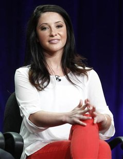 "Bristol Palin, cast member from the reality series ""Dancing with the Stars: All Stars"", speaks during a panel discussion at the Disney-ABC T"