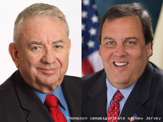 U.S. Senate candidate Tommy Thompson (left) and Gov. Chris Christie (R-N.J.)