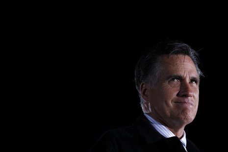 U.S. Republican presidential nominee and former Massachusetts Governor Mitt Romney speaks at a campaign rally in Leesburg, Virginia, October