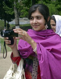 Malala Yousufzai, a 14-year-old schoolgirl, who was wounded in a gun attack, is seen in Swat Valley, northwest Pakistan, in this undated fil