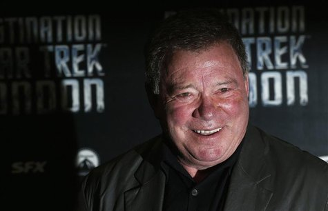 William Shatner who plays Captain James T. Kirk in the original version of Star Trek arrives at the Destination Star Trek London event Octob