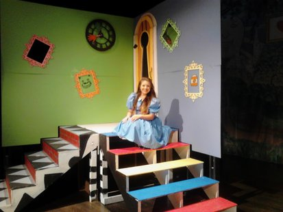 Tess Mitchell from Wausau East poses on the set of Alice in Wonderland, October 19 2012