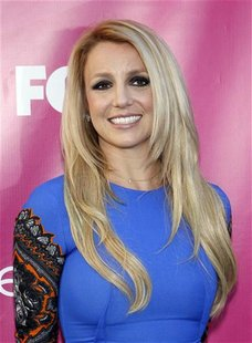 "Judge Britney Spears poses at the season two premiere of the television series ""The X Factor"" at Grauman's Chinese theatre in Hollywood, Cal"