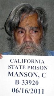 Convicted mass murderer Charles Manson is shown in this handout picture from the California Department of Corrections and Rehabilitation dat