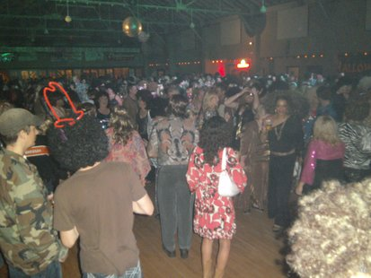 A full dance floor at the Rothschild Pavillion for WIFC's Disco Cures Cancer #15, 10/19/12