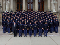 123rd Trooper class in formal dress uniforms.