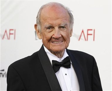 Former U.S. Senator and Democratic presidential candidate George McGovern arrives at the TV Land cable channel taping of the AFI Life Achiev