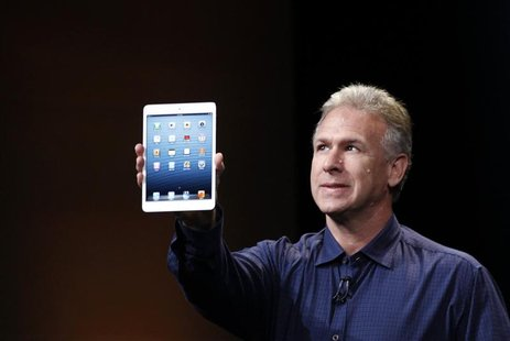 Apple senior vice president of worldwide marketing Philip Schiller introduces the new iPad mini during an Apple event in San Jose, Californi