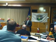 County Administrator Adam Payne addresses County Board