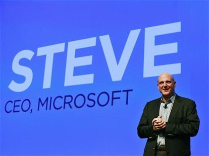 Microsoft CEO Steve Ballmer speaks during a launch event for new HTC Microsoft Windows phones in New York September 19, 2012. REUTERS/Brenda