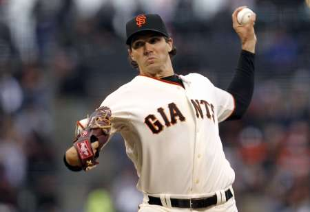 SF Giants starting pitcher Barry Zito, who allowed just one run by the Detroit Tigers, as the Giants beat Detroit 8-3 in Game One of the 2012 World Series.