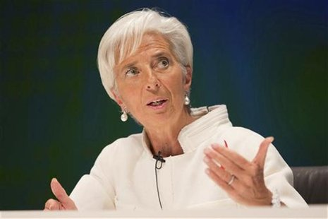 International Monetary Fund (IMF) Managing Director Christine Lagarde speaks at the Tokyo International Forum October 12, 2012. REUTERS/Step