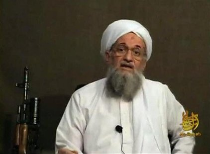 Al Qaeda's second-in-command Ayman al-Zawahri speaks from an unknown location, in this still image taken from video uploaded on a social med