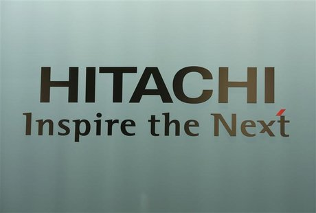 A logo of Hitachi Ltd. is seen at the company headquarters in Tokyo July 25, 2012. REUTERS/Issei Kato