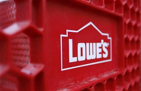 The Lowes logo is displayed on a shopping cart outside of a store in Scottsdale, Arizona, February 22, 2010. REUTERS/Joshua Lott