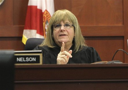 Judge Debra Nelson listens to arguments in the Travyon Martin murder case during a hearing in Sanford, Florida October 26, 2012. REUTERS/Geo