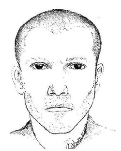 A police sketch of a description of the suspected shooter on I-96.