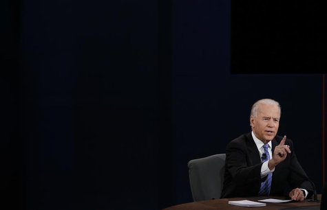 U.S. Vice President Joe Biden answers a question during the vice presidential debate in Danville, Kentucky October 11, 2012. REUTERS/Kevin L