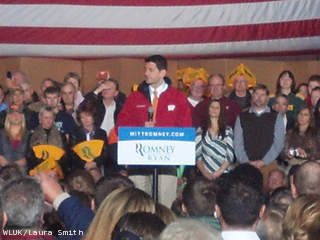 Republican vice presidential nominee Paul Ryan speaks at FulfillNet in Ashwaubenon, Oct. 31, 2012. (courtesy of FOX 11).