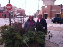 Members of the Town and Country Garden Club at 8th and Penn