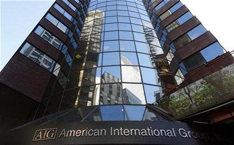 American International Group Inc. (AIG) corporate headquarters in New York is shown in this file photograph from November 10, 2008. REUTERS/