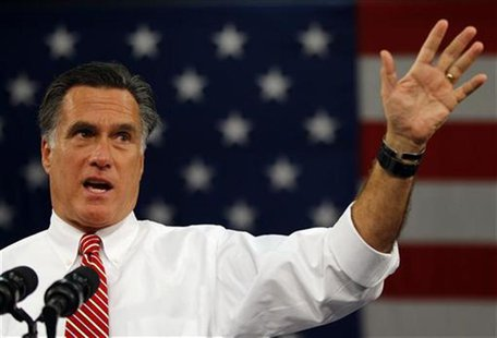 Republican presidential nominee Mitt Romney speaks at a campaign rally in Doswell, Virginia November 1, 2012. REUTERS/Brian Snyder