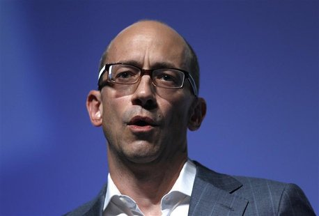 Twitter's CEO Dick Costolo gestures during a conference at the Cannes Lions in Cannes June 20, 2012. Cannes Lions is the International Festi