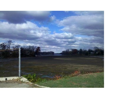 Maple Lake in Paw Paw has been partially drained in order to fight sediment and weed growth.