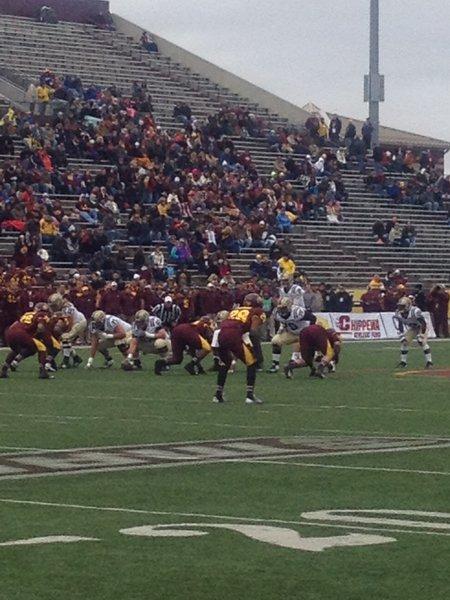 Tyler VanTubbergen leads the Broncos into CMU territory. WMU @ CMU 11/3/12