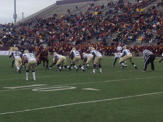 The Bronco D stands tall against the Chippewas. WMU @ CMU 11/3/12