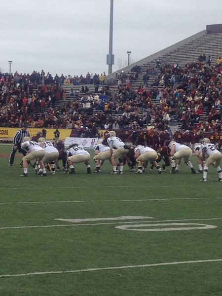 Tyler VanTubbergen surveys the CMU defense. WMU @ CMU 11/3/12