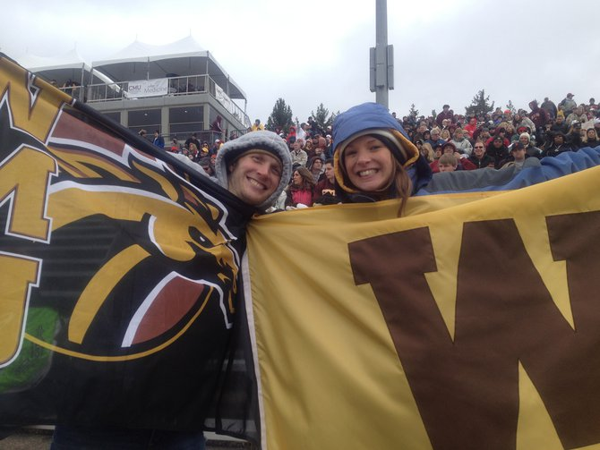 Bronco fans are braving the cold in Mt. Pleasant! WMU @ CMU 11/3/12