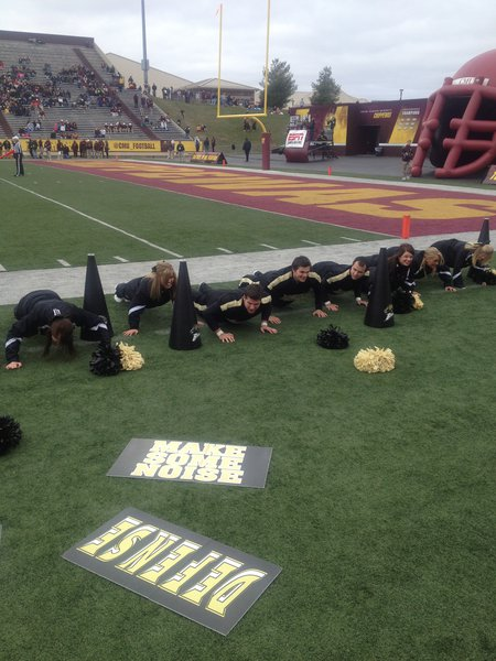 42 push-ups for 42 points! WMU @ CMU 11/3/12