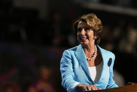 House Minority Leader Rep. Nancy Pelosi (D-CA) addresses the Democratic National Convention in Charlotte, North Carolina September 5, 2012.