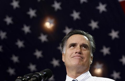 U.S. Republican presidential nominee and former Massachusetts Governor Mitt Romney attends a campaign rally in Cleveland, Ohio, November 4,