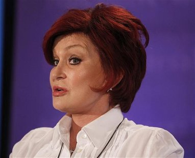 "Sharon Osbourne, one of the judges on ""America's Got Talent"", takes part in a panel discussion at the NBC Universal Summer Press Day 2012 in"
