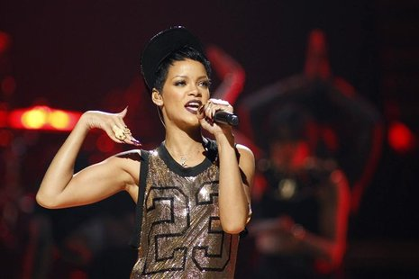 Rihanna performs during the 2012 iHeart Radio Music Festival at the MGM Grand Garden Arena in Las Vegas, Nevada September 21, 2012. REUTERS/