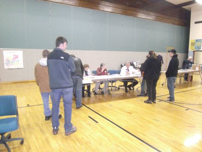 Voting in Stevens Point 11/6/12